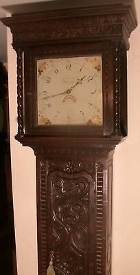 "Antique Carved Oak Case  "" Worcester  ""  Longcase / Grandfather  Clock"