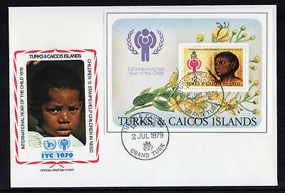 Turks & Caicos Islands - 1979,  International Year of the Child Mini-Sheet FDC