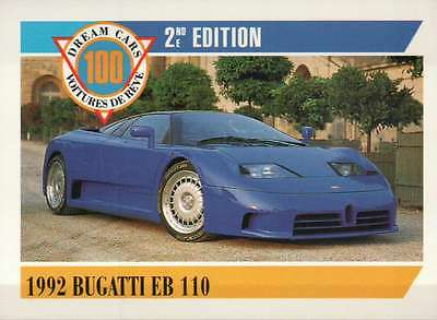 1992 Bugatti EB 110, Dream Cars Trading Card, Sports Automobile --- Not Postcard