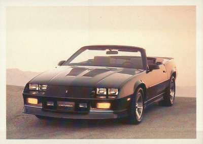 1989 Camaro IROC Z, Dream Cars Trading Card, Automobile --- Not Postcard