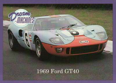 1969 Ford GT40, Dream Machines Cars, Trading Card, Automobile - Not Postcard