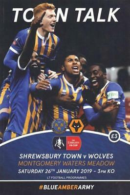 * 2018/19 - SHREWSBURY TOWN v WOLVES (FA CUP - 26th January 2019) *
