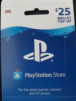 Playstation Store £25 Wallet Top Up