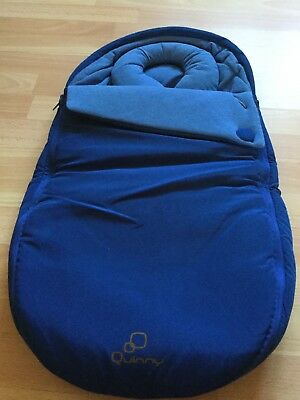 Quinny Baby Nest Cocoon Footmuff Cosy Toes. Blue Base. Vgc