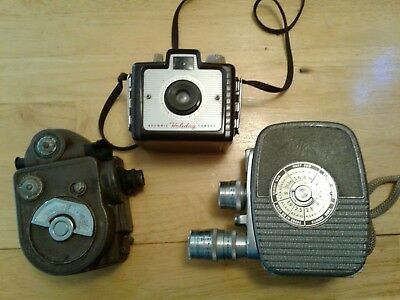 Vintage Camera Lot Of 3 - Keystone Revere Brownie