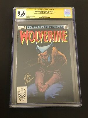 Wolverine #3 Limited Series CGC 9.6 2x Signed Frank Miller + Roy Thomas