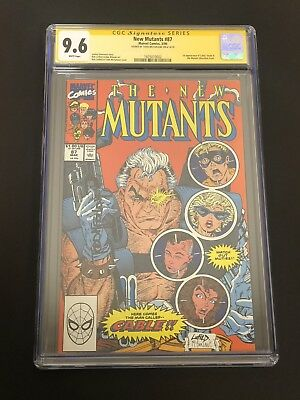 New Mutants #87 (1st app Cable) CGC 9.6 Signed by Todd McFarlane! Rob Liefeld