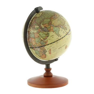 World Map Beige Ocean Earth Rotating Globes Kids Learning Education Toy