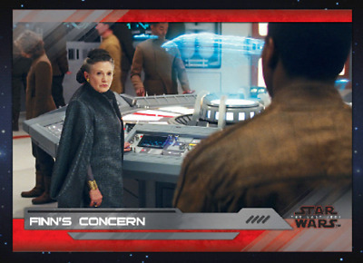 Topps Star Wars Card Trader The Last Jedi Select S2 Wave 7 Finn's Concern Silver