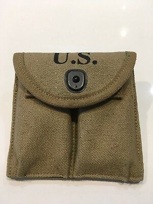 Reproduction WWII US M1 CARBINE RIFLE 15RD BUTT STOCK AMMO POUCH