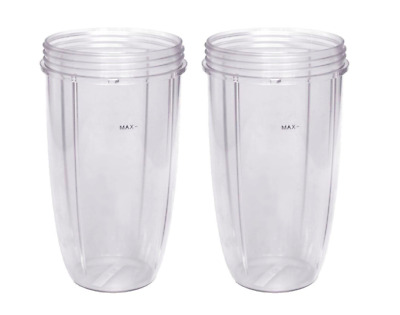 Nutribullet Replacement Cups, 32oz, 600W and 900W, Pack of 2