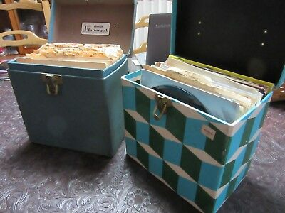 "Awesome Lot Of 90 45Rpm Records- Plus Vintage Cases- 7"" 45Rpm"