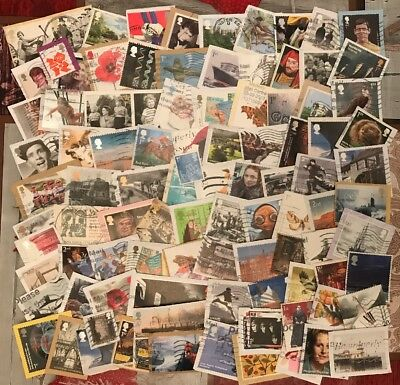25g Of Used Recent Modern Gb Comms Commerative Stamps Kiloware Up To 2018 (2)