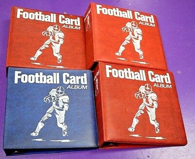 Lot of 4 Used Football Collectors Trading Card Albums  KCCB180
