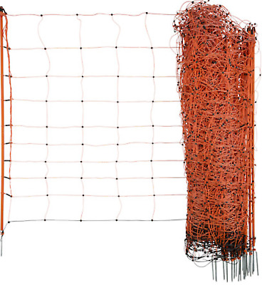 Orange electric sheep netting chicken 50M Fencing Fence Mesh Net Posts Rope