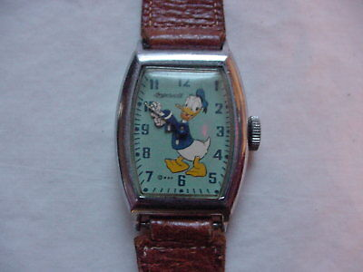 1940's Vintage US Tme  Ingersoll Donald Duck Character Watch