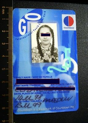 Identification card. International Youth Travel. Very beautiful girl. Original.