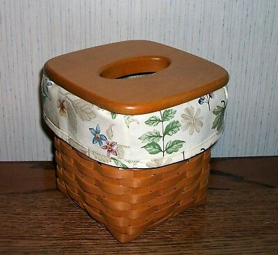 Tall Tissue Basket Liner from Longaberger Botanical Fields fabric! New!