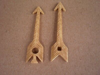 2 Large  Cuckoo clock bone hands , works with some antique movements.