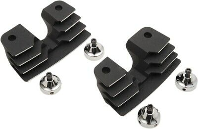 Drag Specialties 0940-1313 Spark Plug/Head Bolt Covers Wrinkle Black