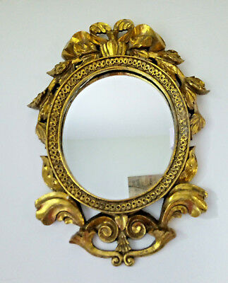 Vintage Gilded Mirror with a Rococo Frame