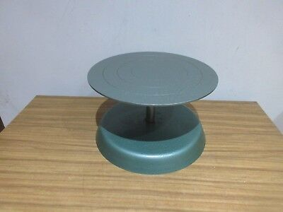 Vintage Industrial Style Cake Decorating Icing Turntable, Or Pottery