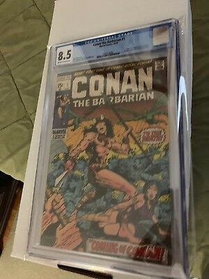 Conan the Barbarian #1 (Oct 1970, Marvel) CGC 8.5 Off-White To White Pages