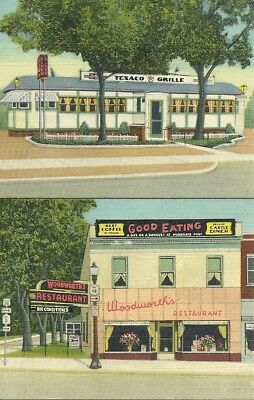 Texaco Grille - Woodworth Restaurant  (Geneva, NY) Postcard