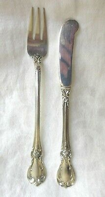 OLD MASTER By TOWLE Sterling Silver COCKTAIL FORK & BUTTER SPREADER KNIFE