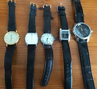 Job Lot Of 5 Watches, 4 Working.