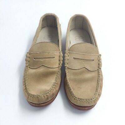f07462a19a9 Allen Edmonds Sea Island Suede Loafer Handcrafted HandSewn Bone 9 EUC MSRP   325