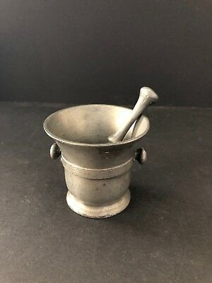 Antique Mortar & Pestle set (Holland) - Pharmacy/Apothecary/Pill Crusher/Herbs