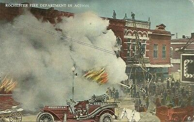 Rochester, NY Fire Department Postcard 1913