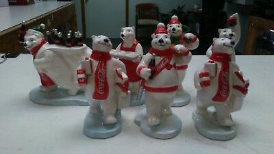 7 Coca cola coke Enesco figurines Polar Bear