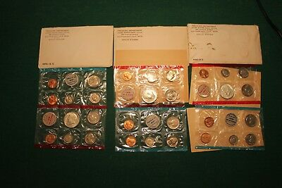 Lot of 3 US Mint Uncirculated Sets 1968 1969 1970 with Silver Halves!!!