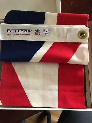 Great Britain 3 X 5 Bull-Dog vintage cotton flag, Quality Dettra Flag Products