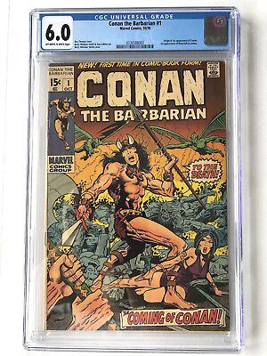 MARVEL CONAN THE BARBARIAN #1 1970 CGC 6.0 OW/WP BARRY WINDSOR-SMITH 1st APP