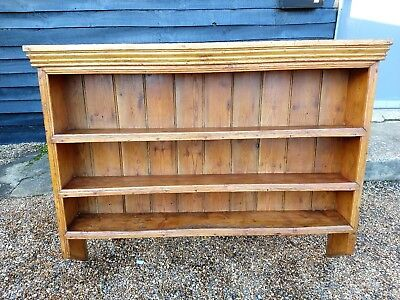 19th CENTURY DRESSER WALL RACK SHELVES SHELVING VICTORIAN ANTIQUE WE CAN DELIVER