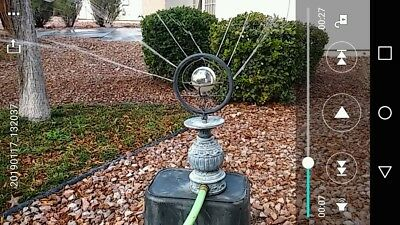 Antique Vintage Brass / Bronze Lawn Garden Art Sprinkler