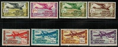 French Equatorial Africa #C1-8 Complete Set 1937 MH