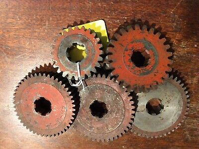 5 PCS. LOT OF VINTAGE  Cast Iron Factory Industrial Gear Cog Wheel Steampunk