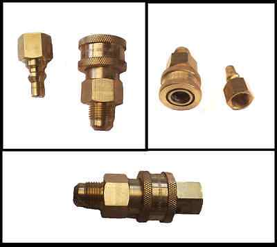 "QUICK CONNECT GAS COUPLING to fit  Joolca  style LPG showers with 3/8"" SAE inlet"