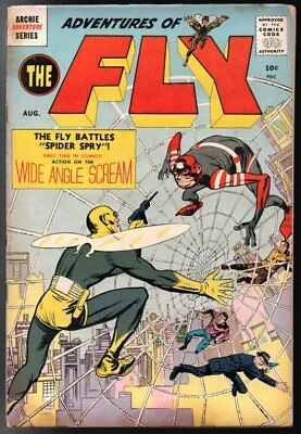Adventures of the Fly #1 Archie Fair Simon & Kirby Cover/Art