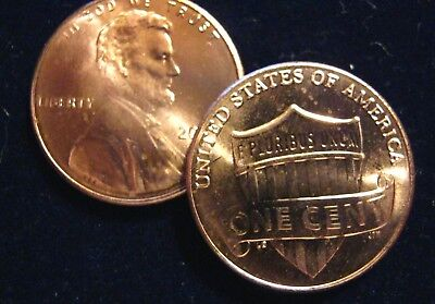 2019 P&D Shield Lincoln cent pennies-
