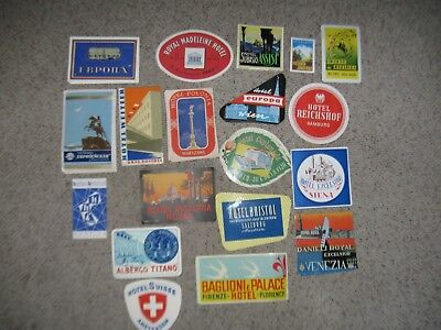 Steamer Trunk Hotel Luggage Labels!
