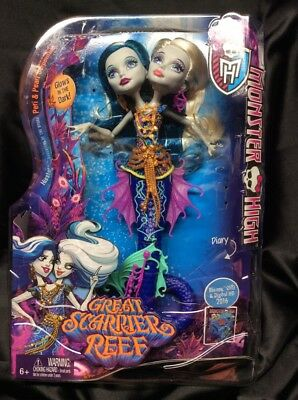 Monster High Great Scarrier Reef Peri & Pearl Serpentine doll out of box