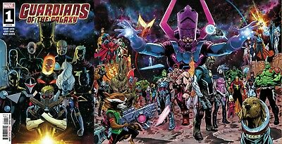 GUARDIANS OF THE GALAXY 1 2019 Marquez A Cover + Shaw Wraparound Variant NM 1/23
