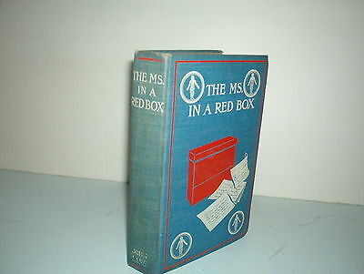 The Ms. In A Red Box By John Hamilton**** Rare 1St Edition 1903***
