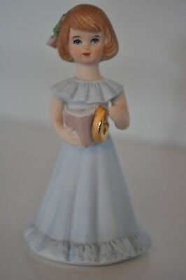 Enesco Growing Up / Birthday Girls Age 6 Brunette with Book