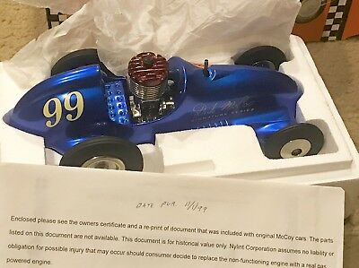 Nylint Real Mccoy Midget Racer Model blue With Red Head Engine